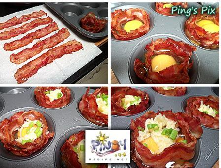 Bacon Cheese Egg Cups ingredients