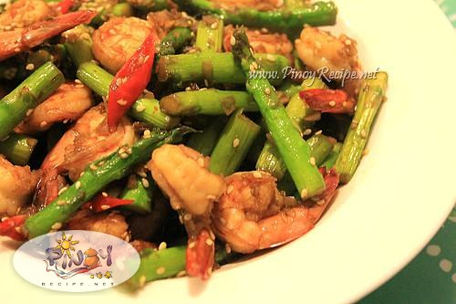 Shrimp and Asparagus stir fried Recipe