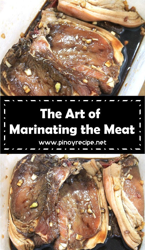 the art of marinating the meat