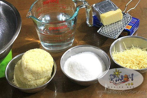 Pichi pichi with Cheese ingredients