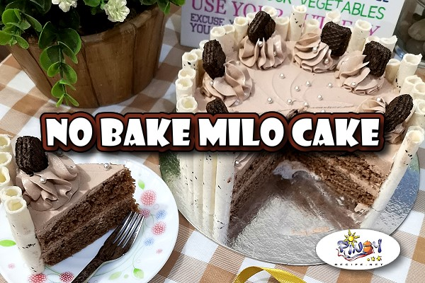 No Bake Milo Cake Recipe